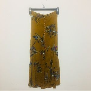 Free People Floral Maxi Skirt XS XXS